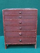 SMALL SIX DRAWER SPECIMEN CHEST