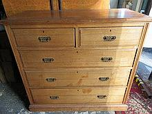 VICTORIAN STYLE TWO OVER THREE CHEST OF DRAWERS