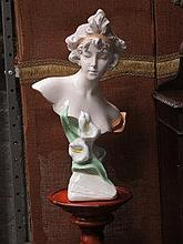 CONTINENTAL STYLE CERAMIC BUST ON REPRODUCTION TOR