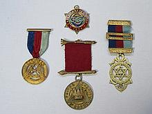TWO PROVINCIAL SILVER GILT CHAPTER JEWELS, SILVER