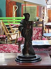 ORIENTAL STYLE FIGURE FORM TABLE LAMP, APPROXIMATE