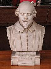 UNGLAZED PARIAN WARE STYLE BUST DEPICTING WILLIAM