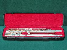 CASED LUMIERE SILVER PLATED FLUTE