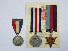 TWO WORLD WAR II MEDALS PLUS TWO COMMEMORATIVE