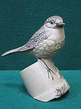 POOLE POTTERY STONEWARE ROBIN, MODELLED BY BARBARA