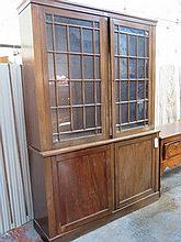 LARGE TWO DOOR ASTRAGAL GLAZED BOOKCASE