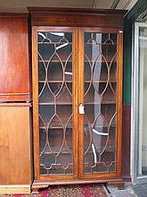 LARGE GEORGIAN STYLE TWO DOOR ASTRAGAL GLAZED INLA