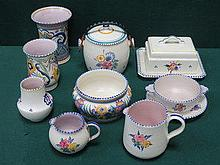 TEN PIECES OF POOLE POTTERY, VARIOUS DESIGNS (SOME