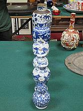 SELECTION OF VARIOUS ORIENTAL BLUE AND WHITE CERAM