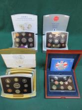 FOUR CASED ROYAL MINT EXECUTIVE PROOF COIN SETS- 2000, 2001, 2002, 2004
