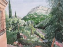 MAURICE COCKRILL, FRAMED WATERCOLOUR- TOWARDS THE HILLS, VENICE, SIGNED AND DATED '82', APPROXIMATELY 56cm x 75cm