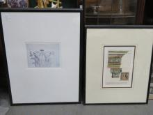 SEVEN VARIOUS FRAMED ARCHITECTURAL PICTURES