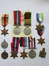 PARCEL OF VARIOUS SECOND WAR MEDALS, STARS, SPORTS MEDALS, ETC.
