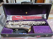 MARTIN ELKHART SILVER PLATED AMERICAN C MELODY SAXOPHONE IN ORIGINAL CASE