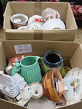 TWO BOXES OF SUNDRY CERAMICS