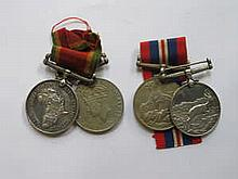 TWO AFRICA SERVICE MEDALS AND TWO SECOND WAR MEDALS