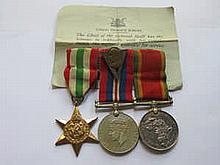 THREE SECOND WAR MEDALS INCLUDING AFRICA SERVICE MEDAL TO 592216 B.W. SCOTT