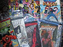 BOX CONTAINING APPROX. 150 + MARVEL, DC AND OTHER SUPER HERO COMICS MAINLY AMERICAN ISSUE INCLUDING DAREDEVIL, AKIRA, PROMTHEA ETC.