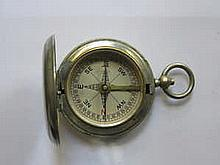 SILVER PLATED POCKET COMPASS