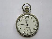 SILVER PLATED EMBASSY FIFTEEN JEWELS POCKET WATCH