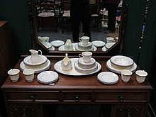 ROYAL DOULTON 'LISA' PART DINNER SET, APPROXIMATELY THIRTY-NINE PIECES (SECONDS)