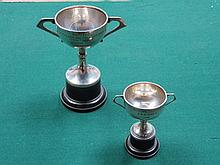 TWO HALLMARKED SILVER GOLFING TROPHIES, BIRMINGHAM ASSAY