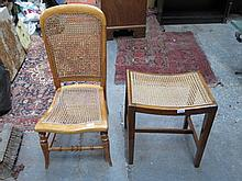 BERGERE DRESSING STOOL AND BERGERE BEDROOM CHAIR