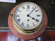 WALL MOUNTING BRASS SMITHS SHIP'S CLOCK