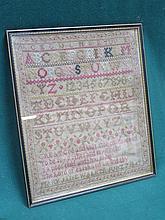 FRAMED 1843 SAMPLER