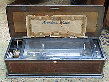 ROSEWOOD INLAID CASED LARGE VICTORIAN MUSIC BOX, TWENTY-FOUR AIRS, No 20696