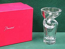 BACCARAT BOXED GLASS TORNADO VASE, APPROXIMATELY 23cm