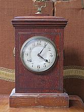OAK CASED BRACKET CLOCK
