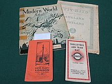 1937-8 No.2 TROLLEY BUS AND TRAM MAP BY LONDON TRANSPORT.  ALSO BACON'S GEM