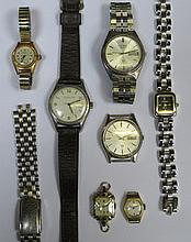 SMALL PARCEL OF WRISTWATCHES INCLUDING 18ct GOLD LADIES COCKTAIL WATCH
