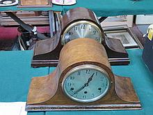 TWO WESTMINSTER CHIME MANTEL CLOCKS