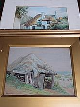 FRED G. DUDLEY, FRAMED WATERCOLOUR PLUS ONE OTHER FRAMED WATERCOLOUR