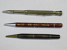 THREE VARIOUS VINTAGE PROPELLING PENCILS