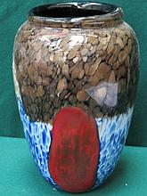 DECORATIVE MURANO STYLE ART GLASS VASE, APPROXIMATELY 29cm HIGH