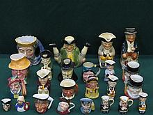 COLLECTION OF APPROXIMATELY TWENTY-FOUR CHARACTER JUGS AND TOBY JUGS
