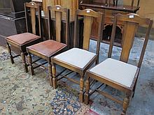 OAK GATELEG TABLE AND FOUR CHAIRS