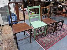 FOUR VARIOUS ODD BEDROOM CHAIRS