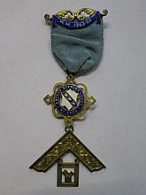SILVER GILT AND ENAMELLED MASONIC PAST MASTERS JEWEL, ARTHUR STANLEY LODGE,