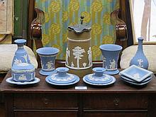PARCEL OF VARIOUS WEDGWOOD JASPERWARE