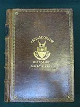 LEATHER BOUND VOLUME- THE POETICAL WORKS OF SIR WALTER SCOTT, WITH BLACK AN