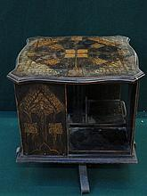 DECORATIVE INLAID REVOLVING BOOK STAND