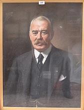 J.A.A. BERRIE- FRAMED ANTIQUE PASTEL PORTRAIT OF A GENT.  APPROXIMATELY 71