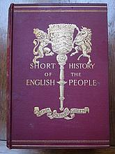 FOUR VOLUME SET- A SHORT HISTORY OF THE ENGLISH PEOPLE BY JOHN RICHARD GREE
