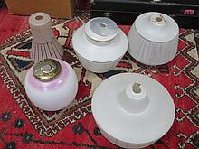 FIVE VARIOUS LIGHT FITTINGS (SOME AT FAULT)