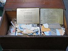 WOODEN BOX CONTAINING LARGE QUANTITY OF LOOSE POSTAGE STAMPS