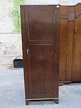SMALL OAK SINGLE DOOR HALL WARDROBE STAMPED AW-LYN